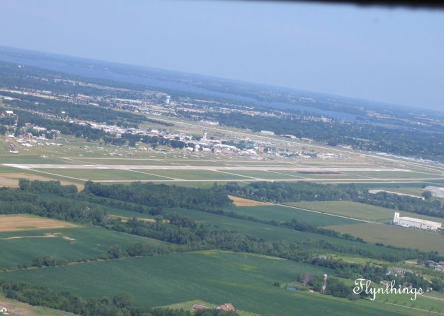 Oshkosh from the air