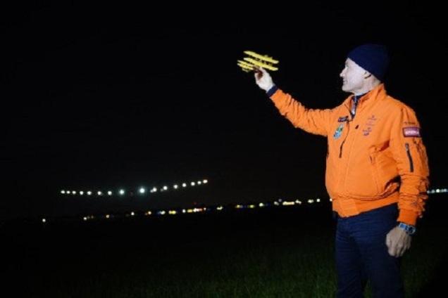 Solar Impuse landing